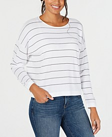 Jewel-Neck Long-Sleeve Top