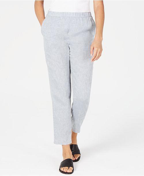 Eileen Fisher Organic Linen Slouchy Ankle Pants, Regular & Petite