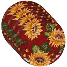 Certified International Sunset Sunflower 4-Pc. Dinner Plate