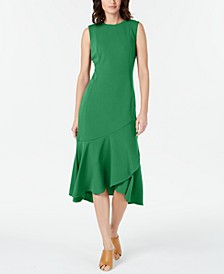 Sleeveless High-Low Wrap-Hem Dress