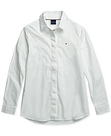 Women's Olivia Oxford Shirt with Magnetic Closures