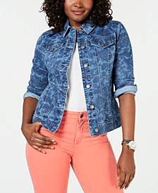 Washed Print Denim Jacket, Created for Macy's