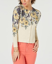 Charter Club Petite Floral Cardigan, Created for Macy's