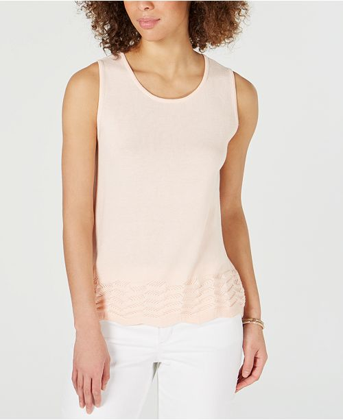 Charter Club Sleeveless Zigzag Sweater, Created for Macy's
