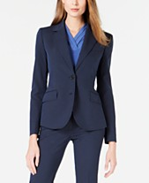 dffb30d3796b Anne Klein Striped Seersucker Two-Button Jacket