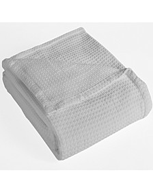 Grand Hotel Waffle Knit Cotton King Blanket