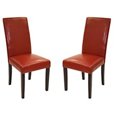 Leather Side Chair (Set of 2), Quick Ship