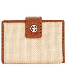 Giani Bernini Straw Softy Index Wallet, Created for Macy's