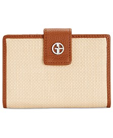 Giani Bernini Straw Softy Index Wallet, Created for Macy's