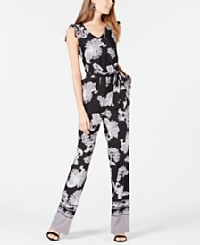 NY Collection Petite Paisley-Print Jumpsuit