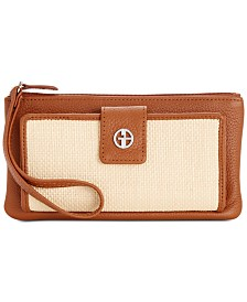 Giani Bernini Straw Softy Grab & Go Wristlet, Created for Macy's