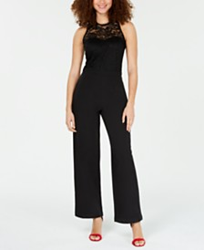 XOXO Juniors' Illusion Lace Jumpsuit