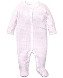 Polo Ralph Lauren Baby Girls Anchor-Print Cotton Coverall