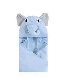 Hudson Baby Unisex Baby Animal Face Hooded Towel, 1-Pack, One Size