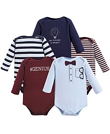 Baby Cotton Bodysuits, Long-Sleeve 5-Pack