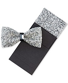 Men's Bling Bow Tie & Pocket Square
