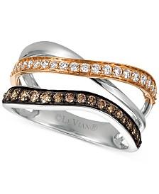 Le Vian Chocolatier® Chocolate Diamond Statement Ring (1/2 ct. t.w.) in 14k Gold & 14k White Gold