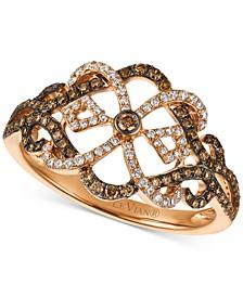 Chocolatier® Diamond Ring (1/2 ct. t.w.) in 14k Rose Gold