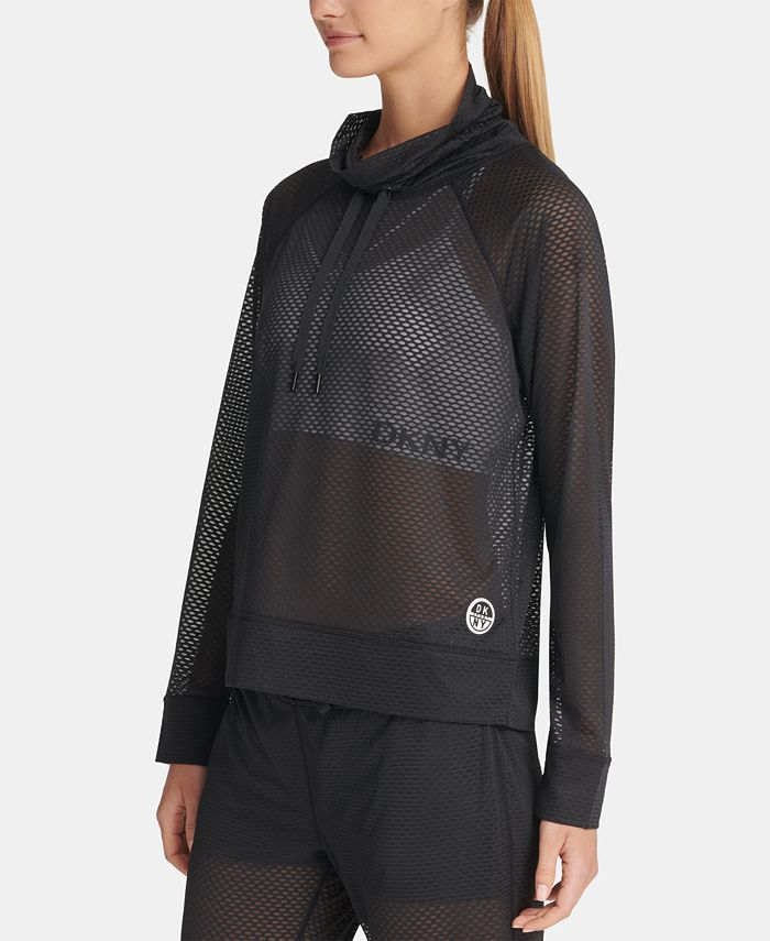 DKNY - Mesh Funnel-Neck Top