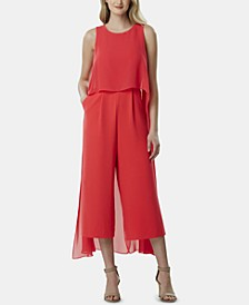 Cropped Cape Jumpsuit, Created for Macy's