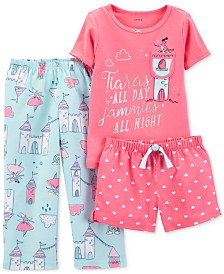 Carter's Toddler Girls 3-Pc. Pajamas Set
