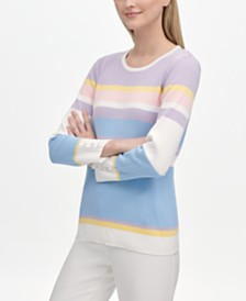 Calvin Klein Multi-Stripe Sweater