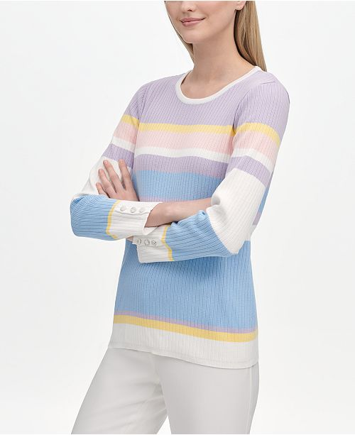 Calvin Klein Multi-Stripe Sweater