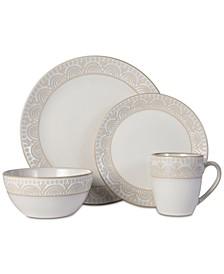 Amelia Cream 16-pc. Dinnerware Set, Service for 4