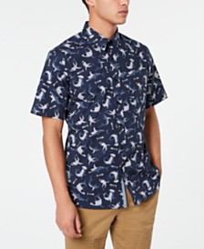 American Rag Men's Shark Attack Shirt, Created for Macy's