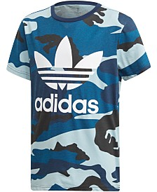 adidas Originals Big Boys Camo-Print T-Shirt