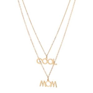 """Image of Adornia """"Cool Mom"""" Layered Necklace"""