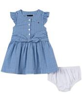 d76a06bcfd7 Tommy Hilfiger Baby Girls Cotton Gingham Shirtdress