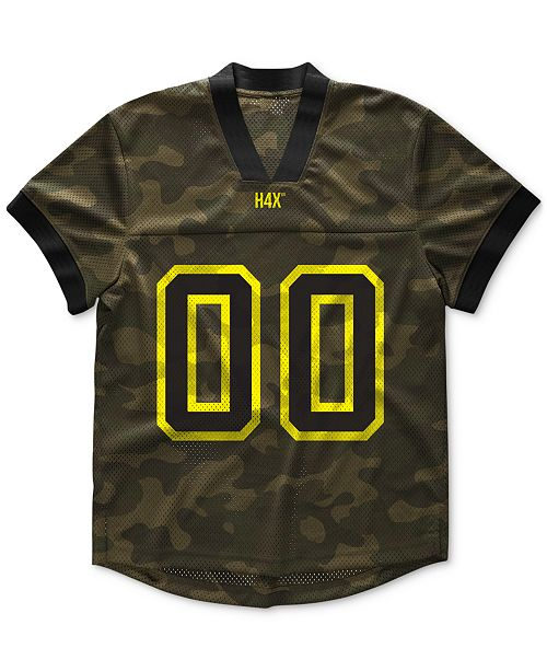 H4X Men's Kratos Camouflage Graphic Mesh T-Shirt