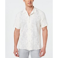 Tommy Bahama Men's Scrolling Vines Silk Shirt (White)
