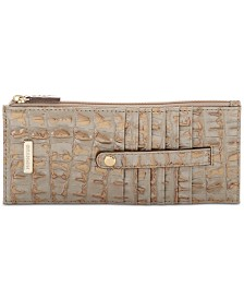 Brahmin Embossed Leather Credit Card Wallet