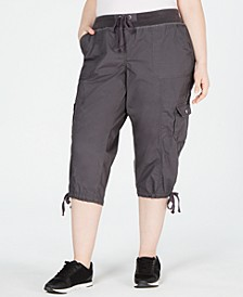 Plus Size Cropped Cargo Pants