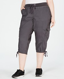 Calvin Klein Performance Plus Size Cropped Cargo Pants