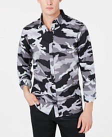 A|X Armani Exchange Men's Camo Shirt