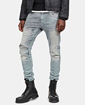 9ba0508404d G-Star RAW Men s 5620 Elwood 3D Skinny-Fit Zip-Knee Stretch Jeans