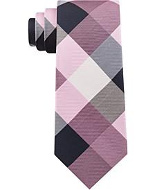 Men's Bold Plaid Silk Tie