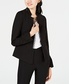 XOXO Juniors' Lace-Trim Blazer