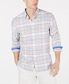 Men's Tonga Reguar-Fit Comfort Stretch Plaid Shirt
