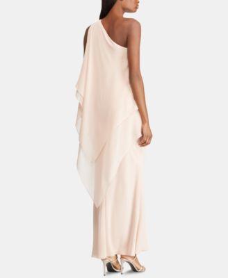 Lauren One Shoulder Chiffon Dress