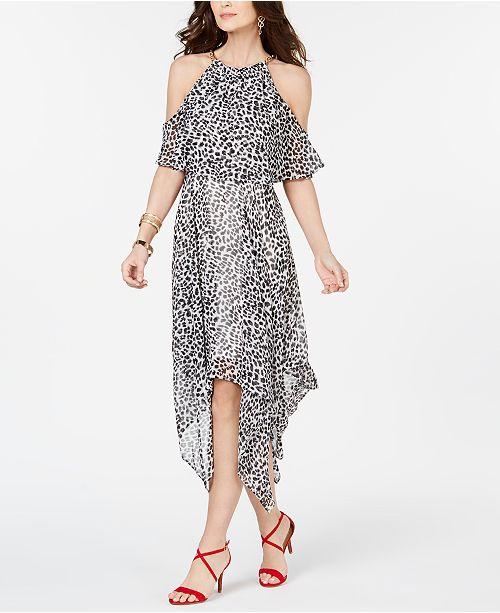 2a796bfc80 Thalia Sodi Animal Print Chain-Neck Off-The-Shoulder Maxi Dress ...