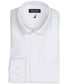 Nautica Men's Classic/Regular Fit Non-Iron Performance Stretch Solid Dress Shirt