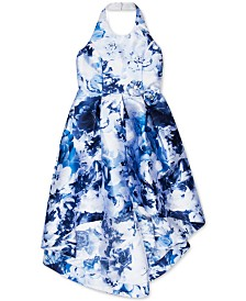 Speechless Big Girls Floral-Print Halter Dress