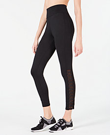 Material Girl Juniors' Lace-Up Illusion Leggings, Created for Macy's