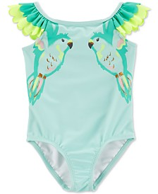 Carter's Toddler Girls 1-Pc. Ruffled Birds Swimsuit