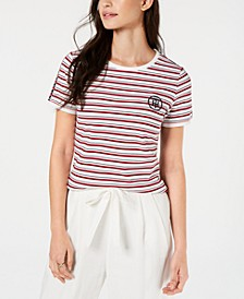 Two-Tone Striped Top