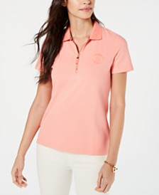 Tommy Hilfiger Dot-Print Polo Top, Created for Macy's